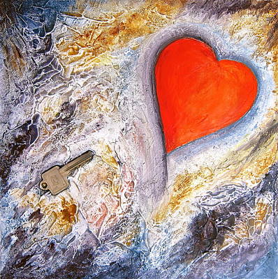 Painting - Key To My Heart by Heather Matthews