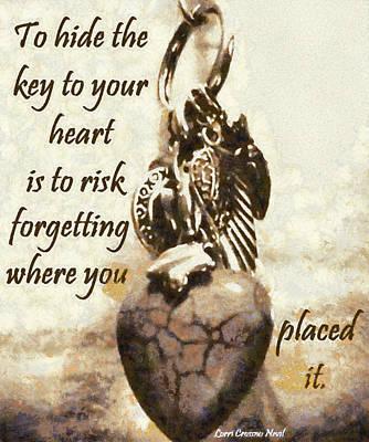 Key To Your Heart Art Print by Lorri Crossno