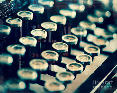 Typewriter Keys Photograph - Key Type by Sonja Quintero