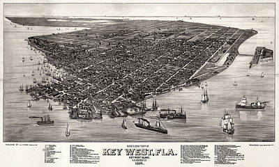 Drawing - Key West, 1884 by Granger