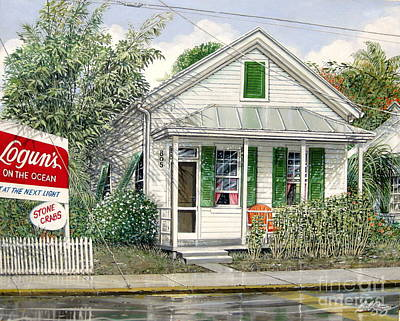 Painting - Key West 1955 by Bob  George