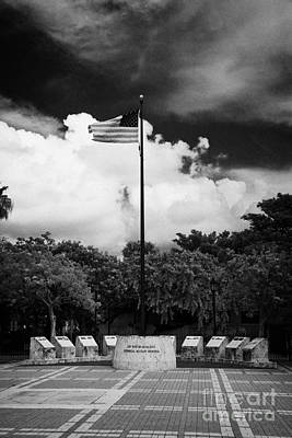 Mallory Square Key West Wall Art - Photograph - Key West And Florida Keys Historical Military Memorial Mallory Square Florida Usa by Joe Fox