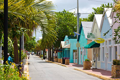 Photograph - Key West Back Street by Ed Gleichman