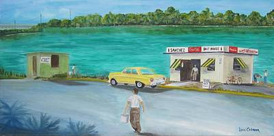 Painting - Key West Bait Shacks by Linda Cabrera