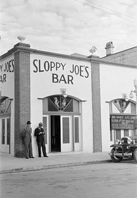 Photograph - Key West Bar, 1938 by Granger