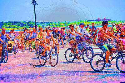Digital Art - Key West Bike Ride by Art Mantia