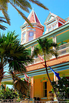 Caribbean House Photograph - Key West by Carey Chen