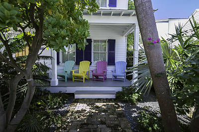 Key West Chairs Art Print