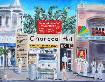 Painting - Key West Charcoal Hut by Linda Cabrera