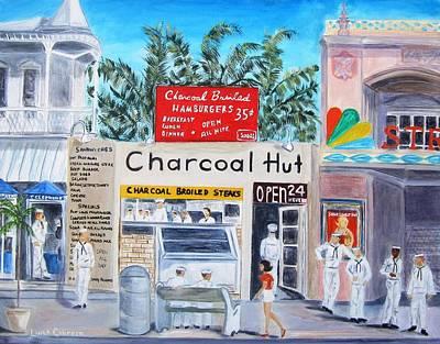 Key West Charcoal Hut Art Print