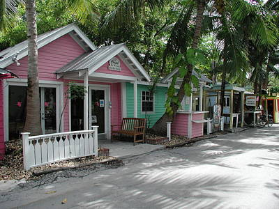 Photograph - Key West Cottages by Nancy Taylor