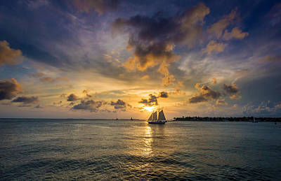 Robert Bellomy Royalty-Free and Rights-Managed Images - Key West Florida Sunset Mallory Square by Robert Bellomy