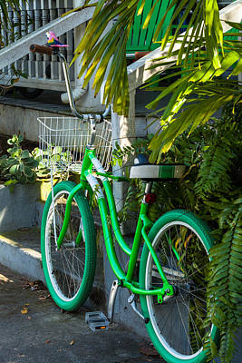 Photograph - Key West Green Transportation by Ed Gleichman