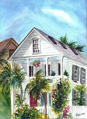 Painting - Key West House by Clara Sue Beym