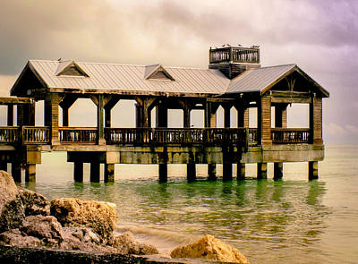 Pier Houses Photograph - Key West by Karen Wiles