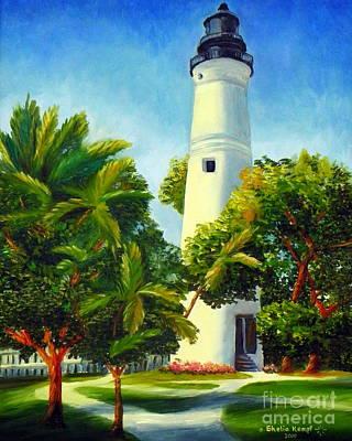Key West Lighthouse Art Print by Shelia Kempf