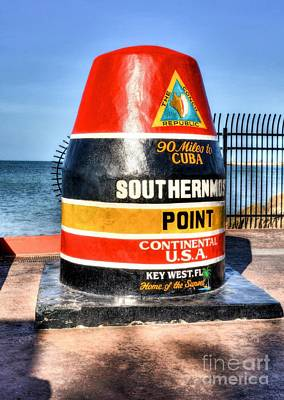 Key West Marker Art Print by Mel Steinhauer
