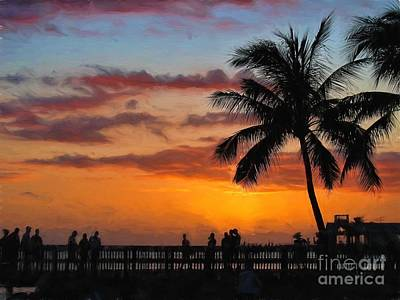 Photograph - Key West Painted Sunset by Peggy Hughes