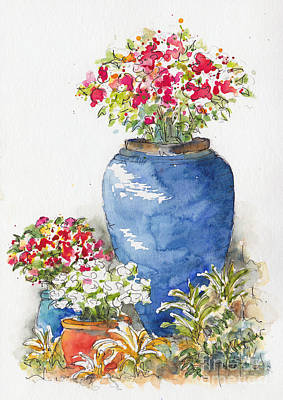 Painting - Key West Planters by Pat Katz