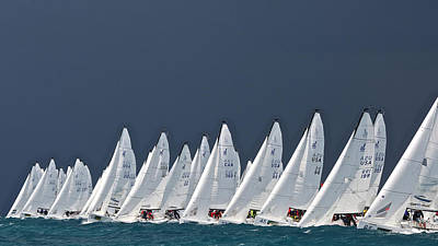 Photograph - Key West Regatta J70s by Steven Lapkin