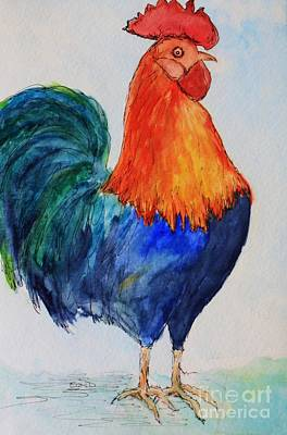 Painting - Key West Rooster by Melinda Etzold