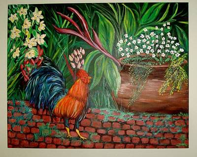 Painting - Key West Rooster by Patti Lauer