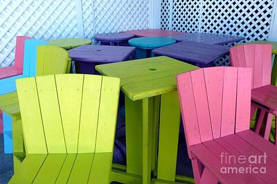 Photograph - Key West Seating by Barbie Corbett-Newmin