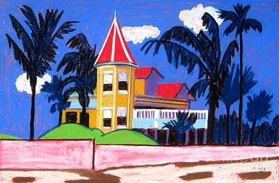 Key West Southern House Art Print by Lesley Giles