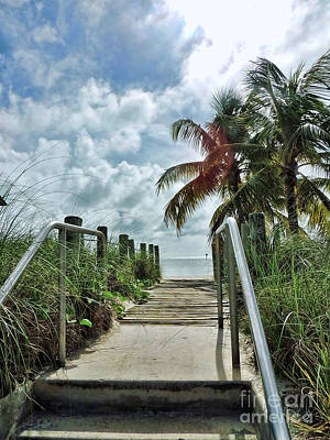 Photograph - Key West Steps by Joan  Minchak