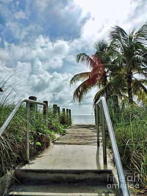 Key West Steps Art Print by Joan  Minchak