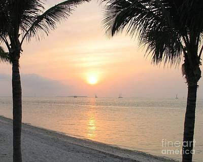 Art Print featuring the photograph Key West Sunet by Shelia Kempf