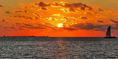 Photograph - Key West Sunset 11 by Bob Slitzan