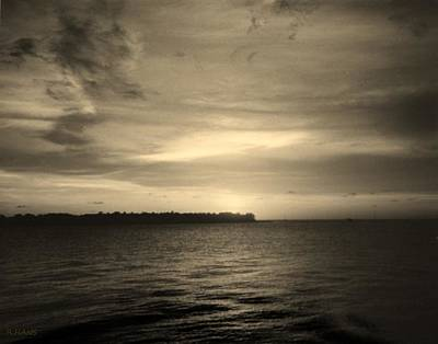Photograph - Key West Sunset In Black And White by Rob Hans