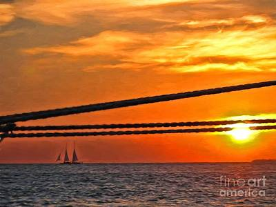 Photograph - Key West Sunset by Peggy Hughes