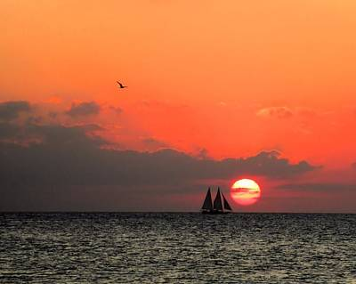 Photograph - Key West Sunset by Wade Waldrup