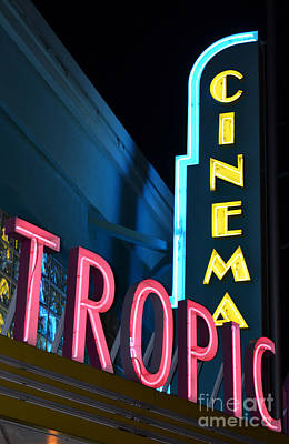 Photograph - Key West Tropic Cinema Neon Art Deco Theater Signs by Shawn O'Brien