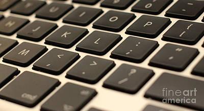 Photograph - Keyboard Closeup by David Warrington