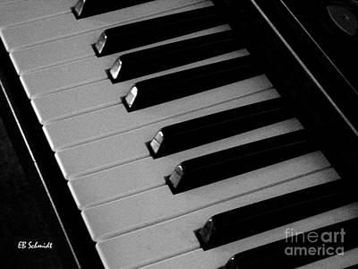 Photograph - Keyboard by E B Schmidt