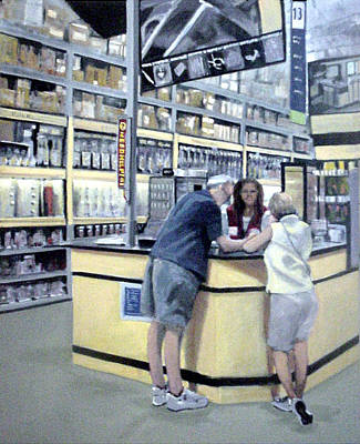 Hardware Painting - Keyed Up At Lowes by David Zimmerman