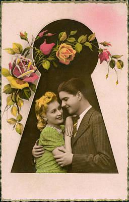 Keyhole Embrace Art Print by Underwood Archives