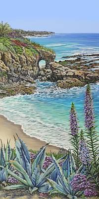 Painting - Keyhole Rock Laguna by Jane Girardot