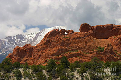 Steven Krull Royalty-Free and Rights-Managed Images - Keyhole to Pikes Peak by Steven Krull