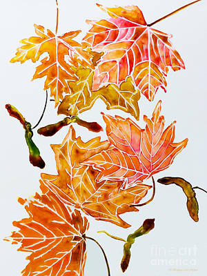 Painting - Keys And Autumn Leaves by Barbara McMahon