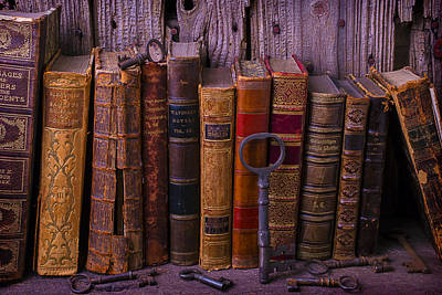 Knowledge Object Photograph - Keys And Books by Garry Gay