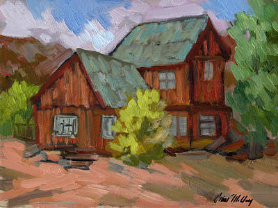 Painting - Keys Ranch At Joshua Tree by Diane McClary