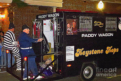 Paddy Wagon Photograph - Keystone Kops by Scott Cameron