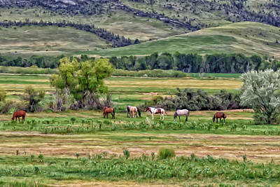 Art Print featuring the painting K G Ranch by Michael Pickett