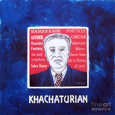 Russia Mixed Media - Khachaturian by Paul Helm