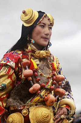 Horse Necklace Photograph - Khampa Princess - Kham Tibet by Craig Lovell