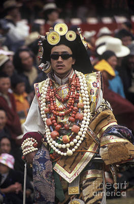 Horse Necklace Photograph - Khampa Royalty - Litang Tibet by Craig Lovell